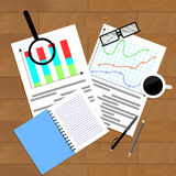 Infochart income economic. Vector flowchart market illustration Stock Image