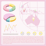 An infochart with a map Royalty Free Stock Images