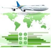 An infochart showing a plane Stock Images