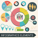 An infochart with statistics Stock Images