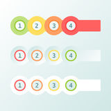 Infogaphics simple. 4 steps - 4 color. vector format Royalty Free Stock Image