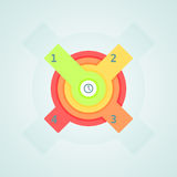 Infogaphics time. 4 steps - 4color. vector format stock illustration
