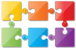 Infoghaphics de puzzle Photo stock