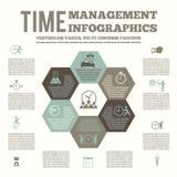 Infografic affisch för Tid ledning royaltyfri illustrationer