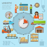 Infografics μεταφορών αποθηκών εμπορευμάτων Στοκ φωτογραφία με δικαίωμα ελεύθερης χρήσης