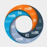 Infografics de papel abstrato em uma forma do círculo Imagens de Stock