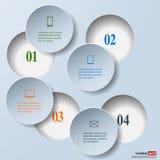 Infografics de papier abstrait. Concept de données internes et externes Image stock