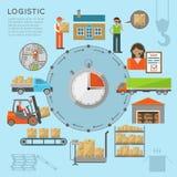 Infografics van het pakhuisvervoer Royalty-vrije Stock Fotografie