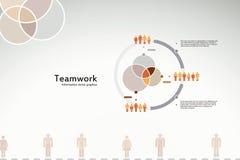 Infografiek van het groepswerk Stock Foto