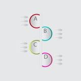 Infogragraphic modern bubbla för vektorabstrakt begreppanförande Royaltyfri Fotografi