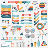 infograph事务的人元素的汇集 也corel凹道例证向量 Infographic图表 Infographs和 库存例证