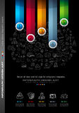 Infograph Brochure template with a lot of choices and a lot of infographic design elements Royalty Free Stock Photography
