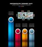 Infograph Brochure template with a lot of choices and a lot of infographic design elements Royalty Free Stock Image