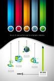Infograph broschyrmall med många val och mycket infographic designbeståndsdelar Royaltyfri Foto