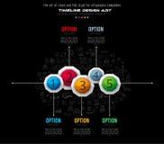 Infograph broschyrmall med många val och mycket infographic designbeståndsdelar Arkivbild