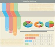 An infograph with colourful graphs Royalty Free Stock Photo