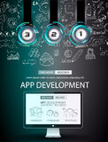 Infograph template with multiple choices and a lot of infographic design elements Stock Photo