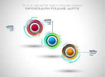 Infograph template with multiple choices and a lot of infographic design elements Stock Photos