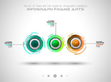 Infograph template with multiple choices and a lot of infographic design elements Stock Photography