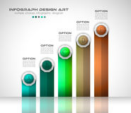Infograph template with multiple choices and a lot of infographic design elements Stock Images