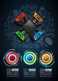 Infograph template with multiple choices and a lot of infographic design elements Royalty Free Stock Photography