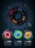 Infograph template with multiple choices and a lot of infographic design elements Stock Image