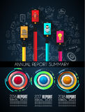 Infograph template with multiple choices and a lot of infographic design elements Royalty Free Stock Photo