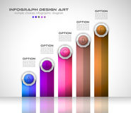 Infograph template with multiple choices and a lot of infographic design elements. And mockups. Ranking elements to display product comparison, business plans Stock Image