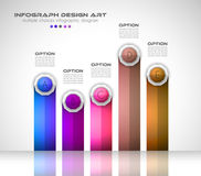 Infograph template with multiple choices and a lot of infographic design elements. And mockups. Ranking elements to display product comparison, business plans Royalty Free Stock Images