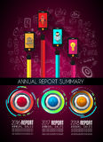 Infograph template with multiple choices and a lot of infographic design elements. And mockups. Ranking elements to display product comparison, business plans Stock Photography