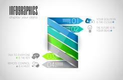 Infographic与很多不同的设计元素的模板汇集 免版税图库摄影