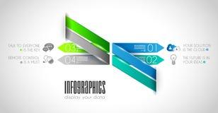 Infographic与很多不同的设计元素的模板汇集 库存图片