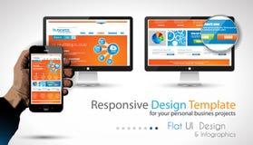 Infographic与现代平的样式的设计模板 免版税库存图片