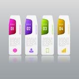Infographic与4个选择,零件,步的企业概念 库存图片