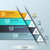 Infographic与4长方形被编号的层数的设计模板 皇族释放例证