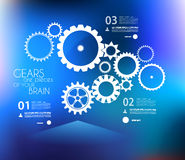 Infographic与gea的设计模板 免版税图库摄影