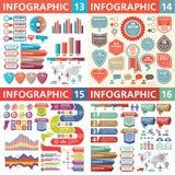 Infographic业务设计元素-传染媒介例证 Infograph模板汇集 创造性的图表集合 库存例证