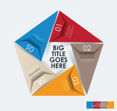 infographic五边形的现代设计模板 库存照片