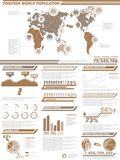 Infographic人口统计的元素图和图表 库存图片