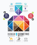Infographic人的几何设计模板。concept.vector. 库存例证