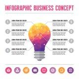 Infographic企业概念-创造性的想法例证 库存例证
