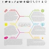Infographic企业概念 多角形样式传染媒介 免版税库存图片