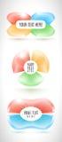 Infographic企业横幅从抽象五颜六色的3D形式设置了 库存例证