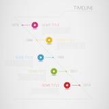 Infographic传染媒介与圈子的时间安排模板我 库存照片