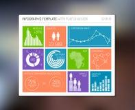 infographic传染媒介平的用户界面 库存照片