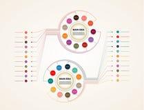 infographic传染媒介的圈子 图、图表、时间安排、介绍和图的模板 与十一个选择的企业概念, pa 库存例证