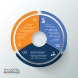 infographic传染媒介的圈子 免版税库存图片