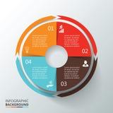 infographic传染媒介的圈子 免版税库存照片