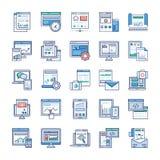 Infographic元素平的传染媒介包装 库存例证