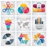 Infographic元素和通信概念汇集 图库摄影
